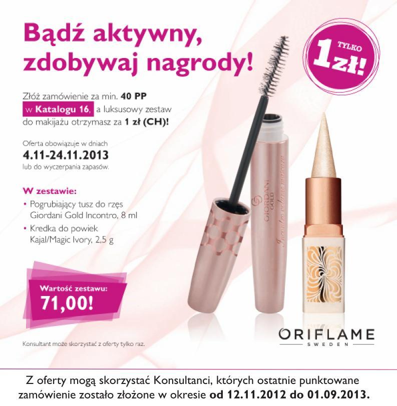 Katalog Oriflame 16 2013 reaktywacja