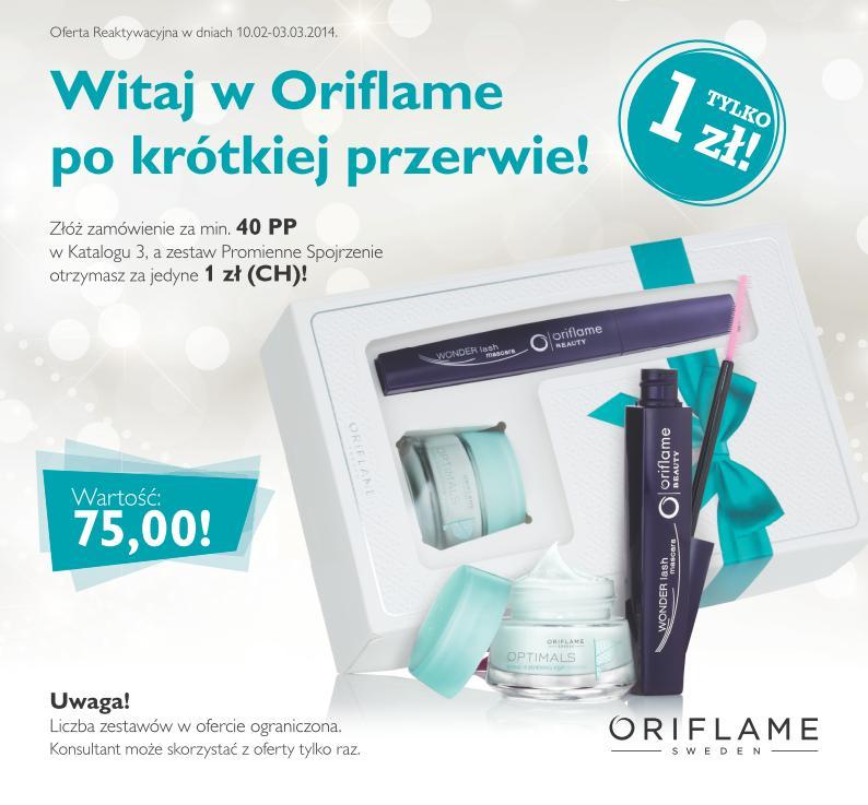 Katalog Oriflame 3 2014 reaktywacja
