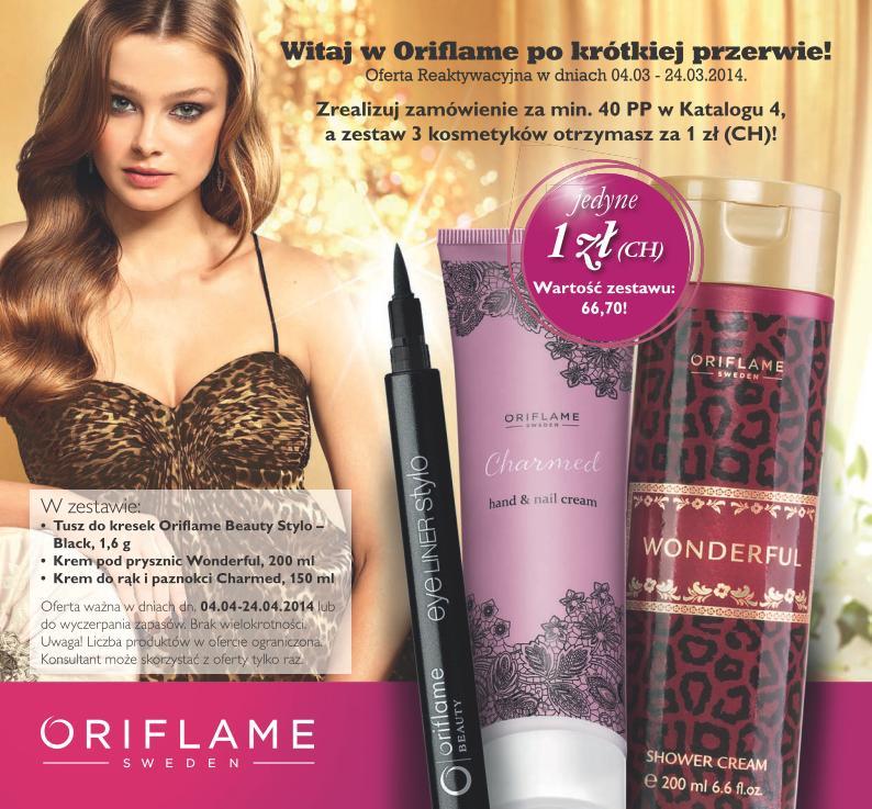 Katalog Oriflame 4 2014 oferta reaktywacyjna