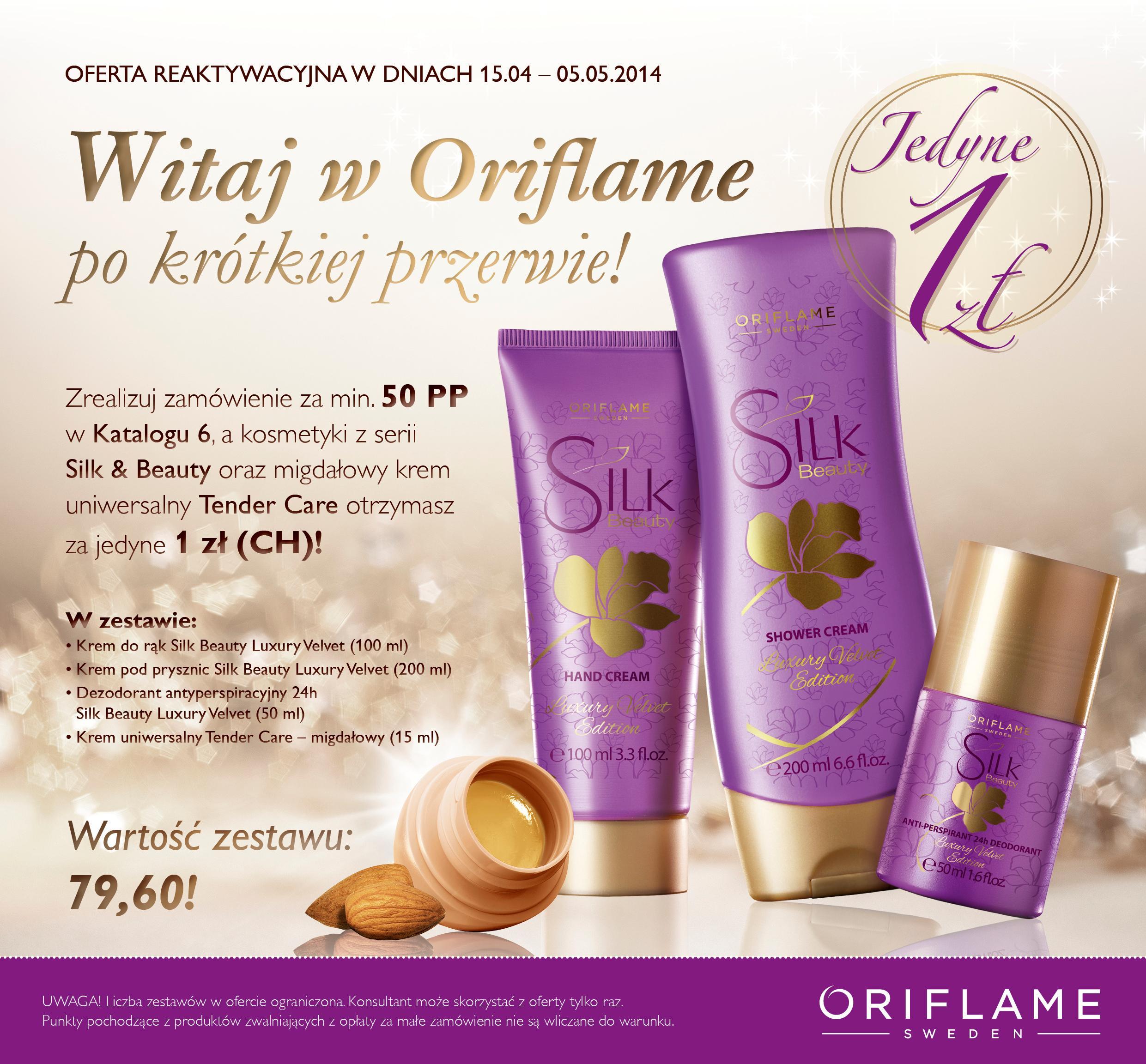 Katalog Oriflame 6 2014 oferta reaktywacyjna