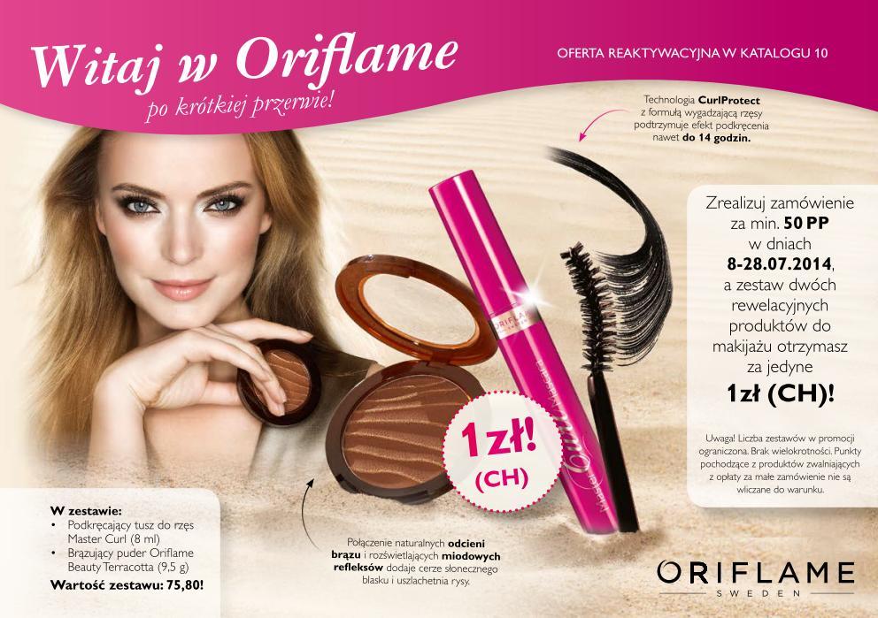 Katalog Oriflame 10 2014 oferta reaktywacyjna