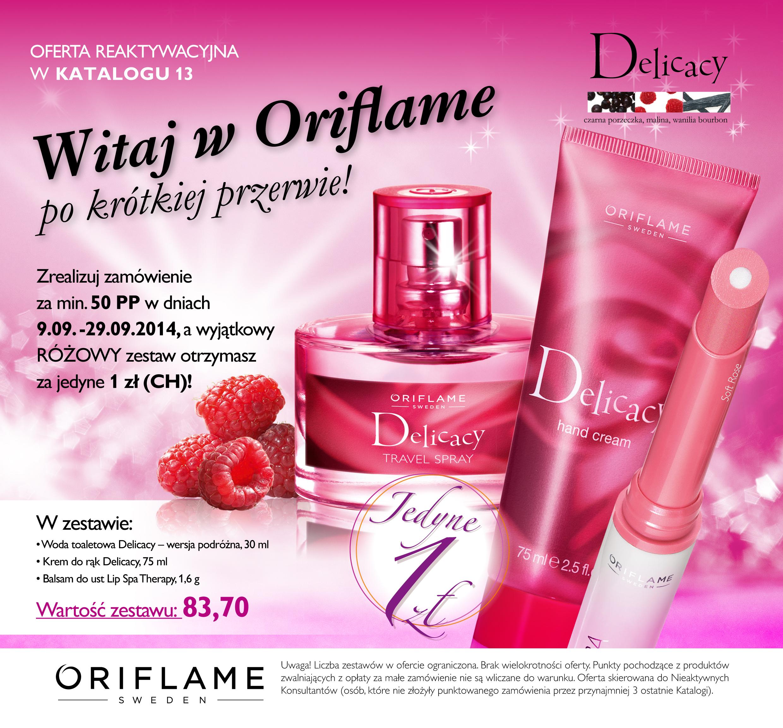 Katalog Oriflame 13 2014 oferta reaktywacyjna