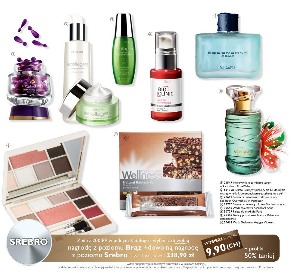Katalog Oriflame 14 2014 bonus dla urody nagrody srebro