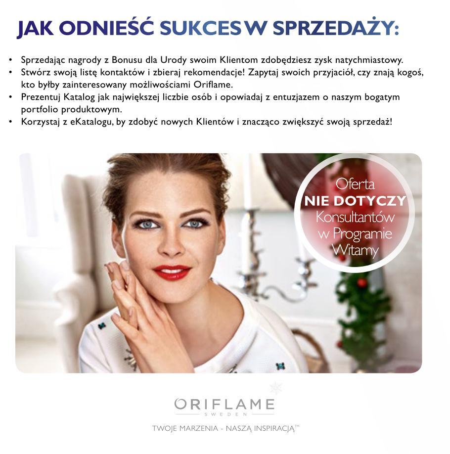 Katalog Oriflame 1_2015 Bonus dla urody jak odnieść sukces