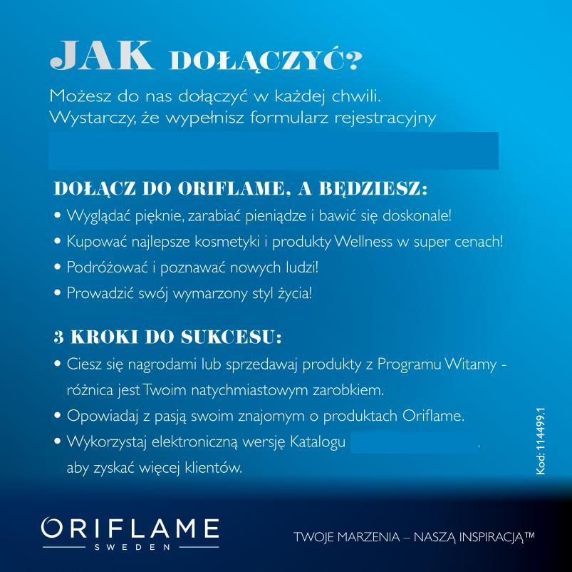 Katalog Oriflame 2 2015 program Witamy jak dołączyć