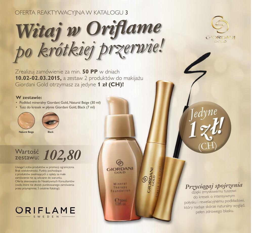 Katalog Oriflame 3 2015 - oferta reaktywacyjna