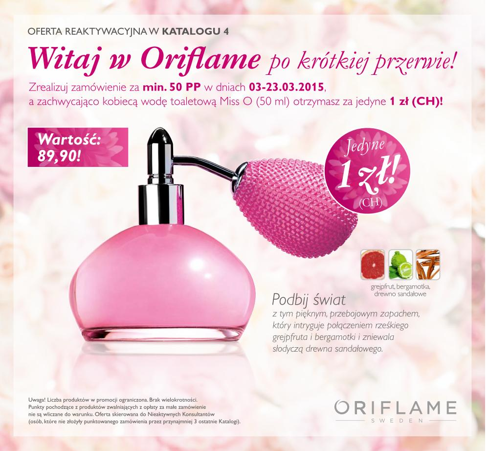 Katalog Oriflame 4 2015 oferta reaktywacyjna okładka