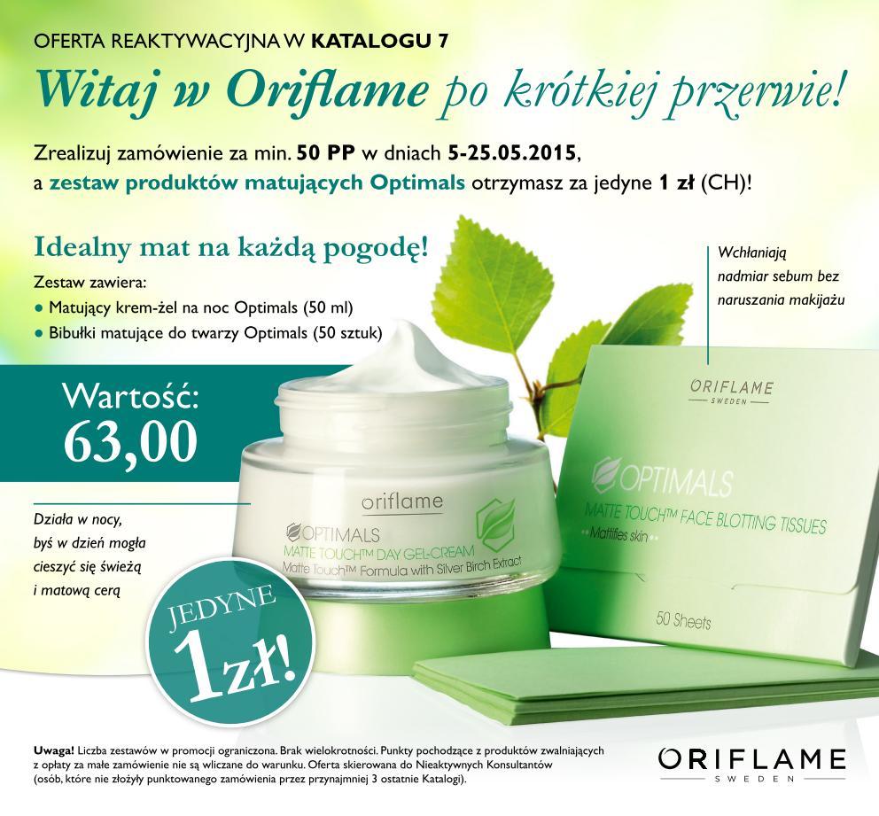 Katalog Oriflame 7 2015 reaktywacja