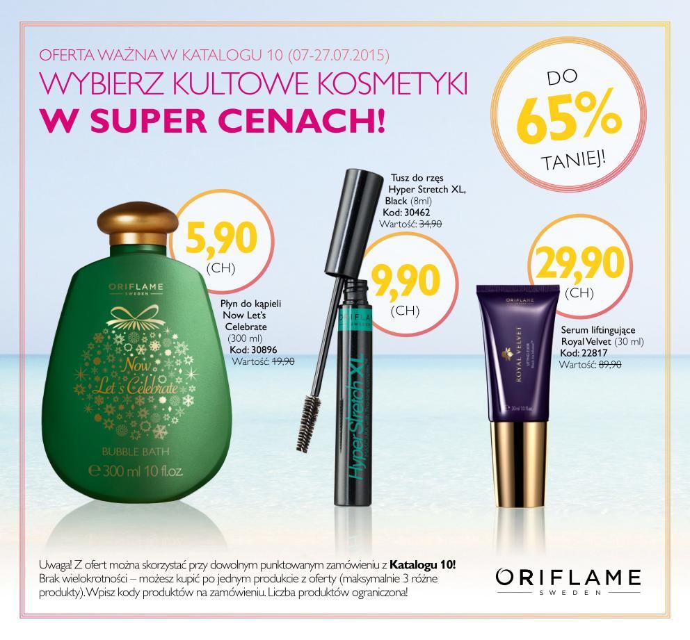 Katalog Oriflame 10 2015 kultowe kosmetyki