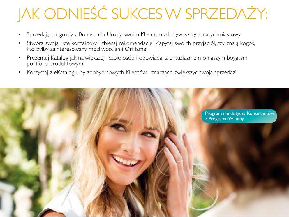 Katalog Oriflame 11 2015 Bonus dla Urody sukces