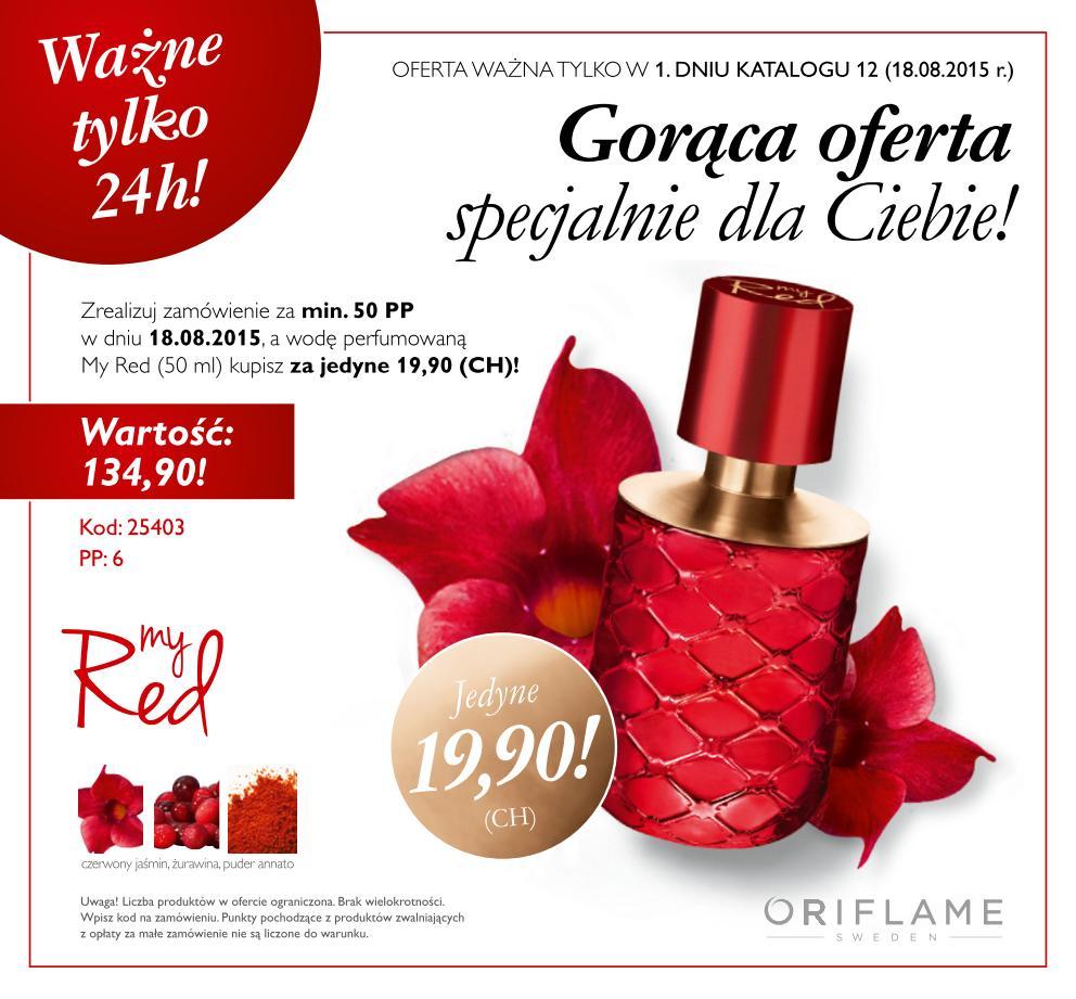 Katalog Oriflame 12 2015 oferta jednodniowa