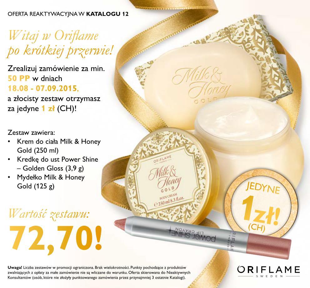 Katalog Oriflame 12 2015 oferta reaktywacyjna