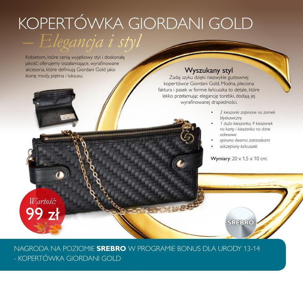 Katalog Oriflame 13 2015 bonus dla urody srebro kopertówka