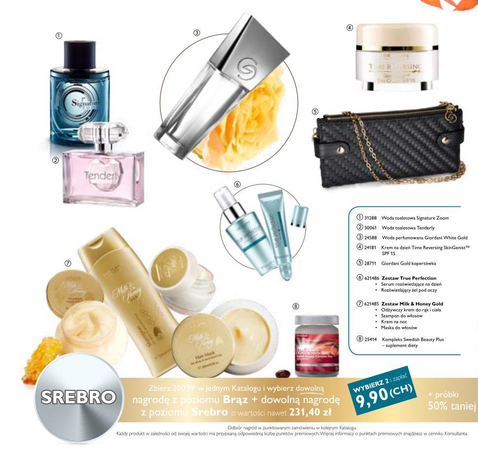 Katalog Oriflame 13 2015 bonus dla urody srebro