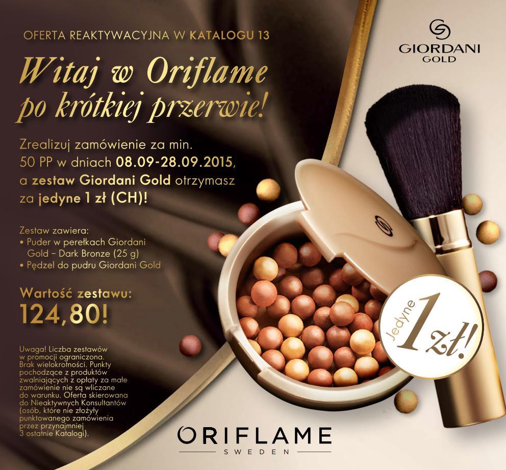 Katalog Oriflame 13 2015 oferta reaktywacyjna