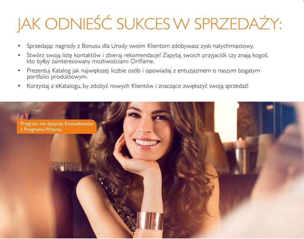 Katalog Oriflame 15 2015 bonus dla urody jak odnieść sukces