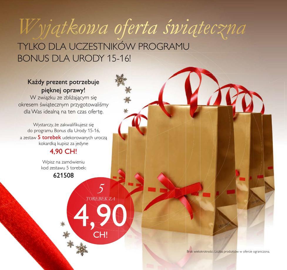Katalog Oriflame 15 2015 bonus dla urody torebki