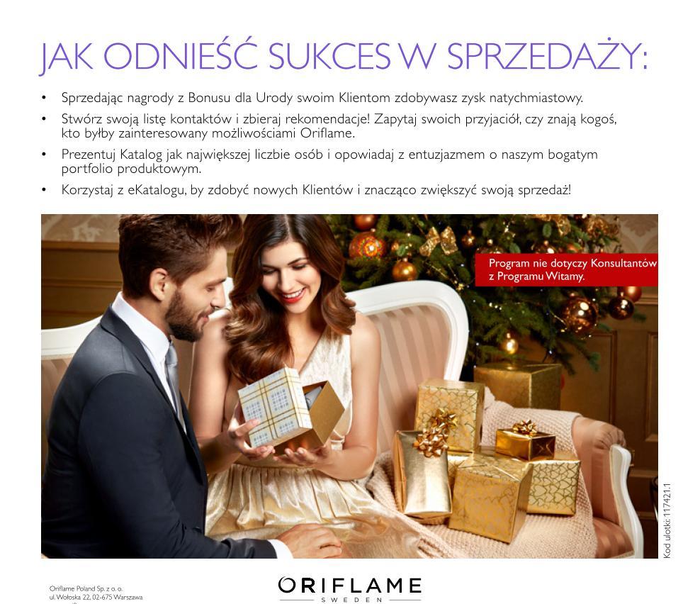 Katalog Oriflame 17 2015_bonus dla urody jak odnieść sukces