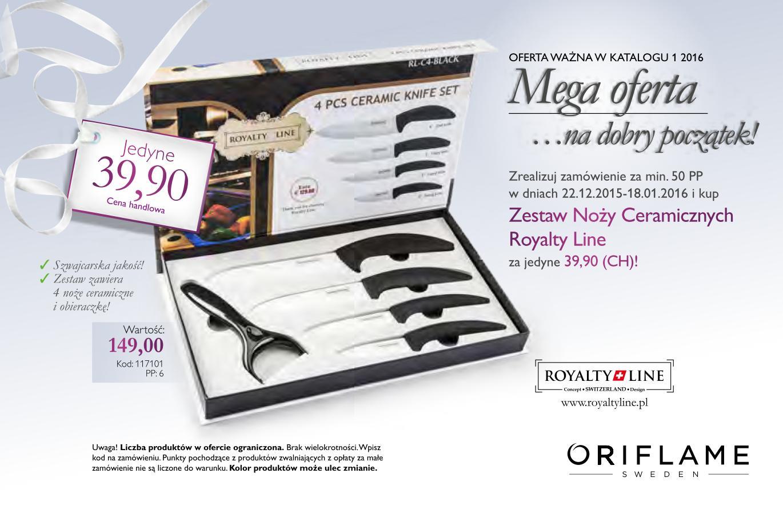 Katalog Oriflame 1 2016 noże ceramiczne