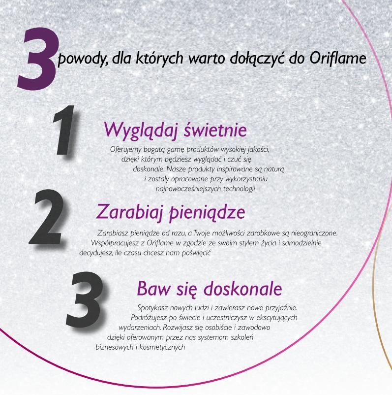 Katalog Oriflame 1 2016 program Witamy trzy powody