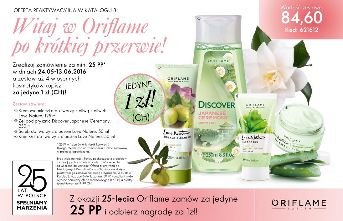 Katalog Oriflame 8 2016 oferta reaktywacyjna
