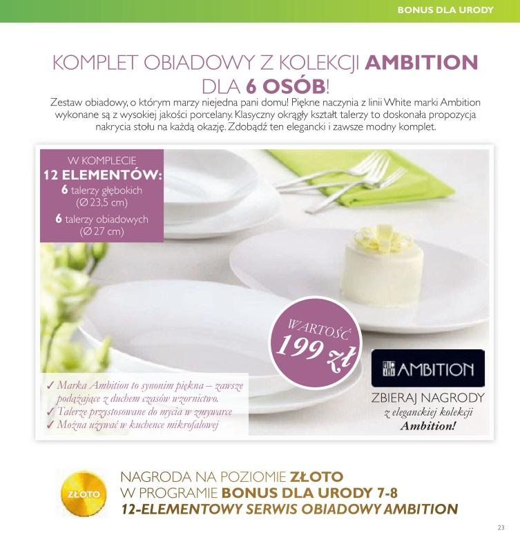 katalog Oriflame 7 2016 bonus dla urody serwis obiadowy