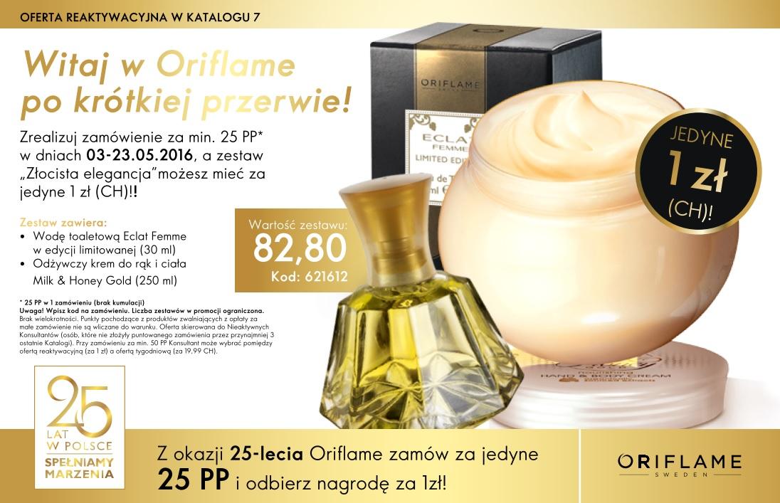 katalog Oriflame 7 2016 oferta reaktywacyjna