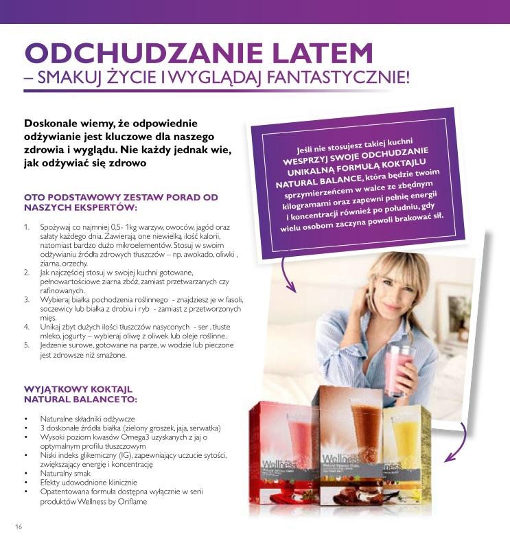 Katalog Oriflame 10 2016 odchudzanie z Wellness 1