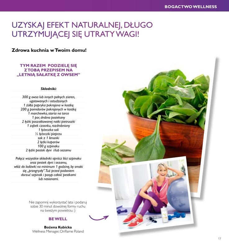 Katalog Oriflame 10 2016 odchudzanie z Wellness 2