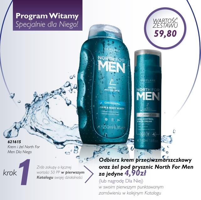 Katalog Oriflame 10 2016 program Witamy krok 1 dla panów