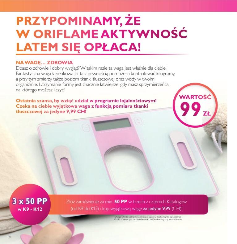 Katalog Oriflame 11 2016 bonus dla urody waga